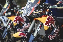 Представление мотогонщиков Red Bull, презентация.