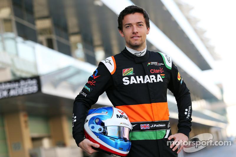 印度力量F1车队测试车手乔利恩·帕尔默