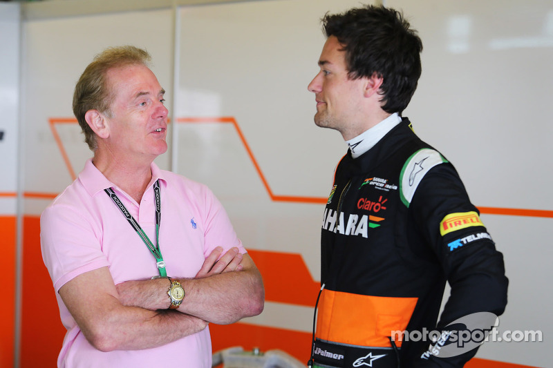 Jolyon Palmer, Sahara Force India F1 Team Test Driver with his father Jonathan Palmer