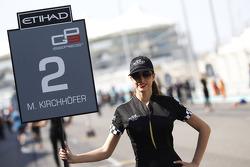 Grid girl for Marvin Kirchhofer, ART Grand Prix