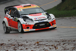 Robert Kubica and Alessandra Benedetti, Ford Fiesta WRC