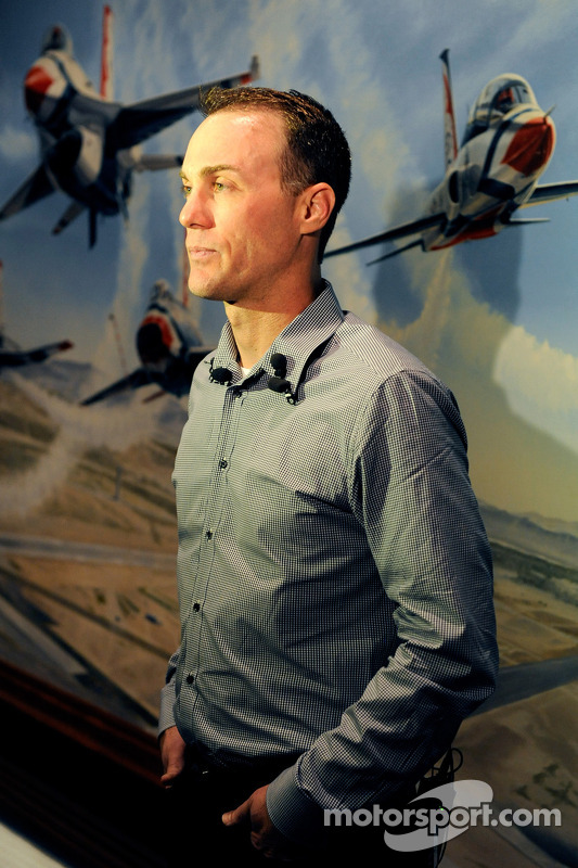 2014 champion Kevin Harvick, Stewart-Haas Racing at Nellis Air Force Base