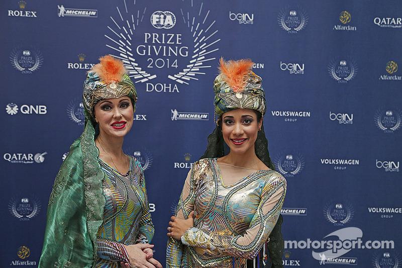 2014 FIA Ödül Töreni Galası'nda eğlence