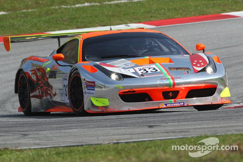 #33 Clearwater Racing Ferrari 458 GT3: Richard Wee, Matt Griffin
