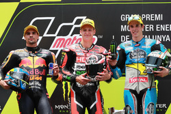 Podium: second place Miguel Oliveira, Red Bull KTM Ajo, Race winner Fabio Quartararo, Speed Up Racing, third place Alex Marquez, Marc VDS