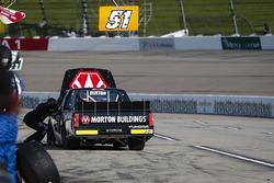 Harrison Burton, Kyle Busch Motorsports, Toyota Tundra Morton Buildings in the pits