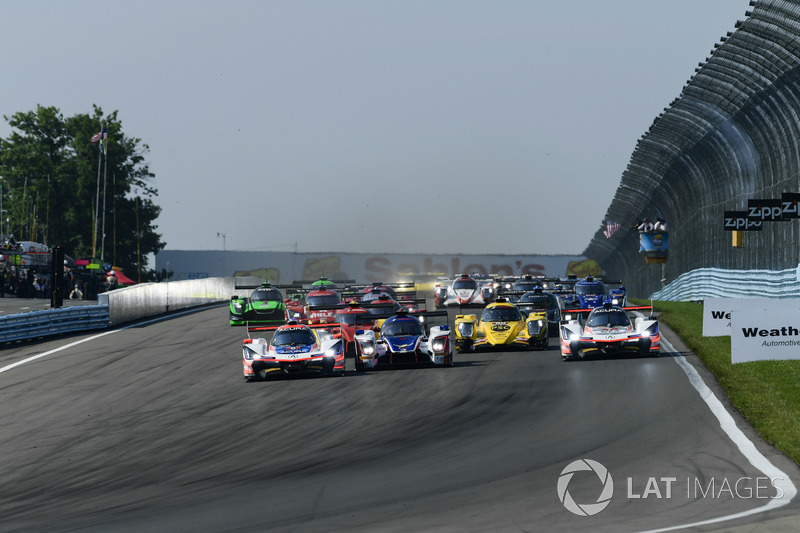 #6 Acura Team Penske Acura DPi, P: Dane Cameron, Juan Pablo Montoya, #7 Acura Team Penske Acura DPi, P: Helio Castroneves, Ricky Taylor, #32 United Autosports Ligier LMP2, P: Phil Hanson, Bruno Senna, Paul Di Resta - partenza