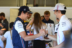 Lance Stroll, Williams and Esteban Ocon, Force India F1