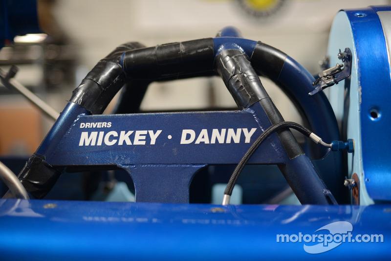 在尝试破纪录赛车上的车手姓名