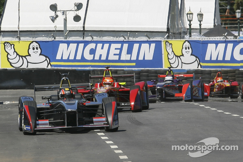 Oriol Servia, Dragon Racing Formula E Team Nelson Piquet Jr., China Racing Formula E Team Sam Bird, Virgin Racing Formula E Team Ho-Pin Tung, China Racing Formula E Team