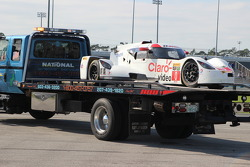 #0 DeltaWing Racing Cars, DWC13: Katherine Legge, Memo Rojas, Gabby Chaves nach Unfall