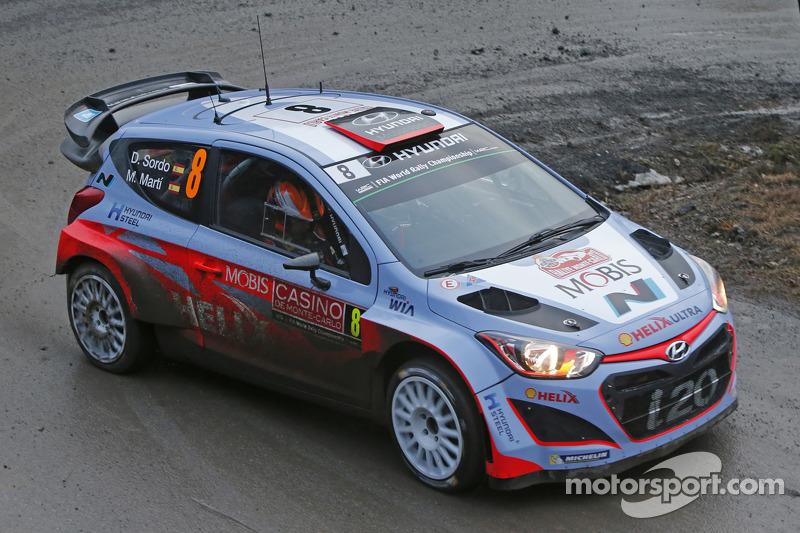 Daniel Sordo and Marc Marti, Hyundai i20 WRC, Hyundai Motorsport at Rally Monte Carlo - WRC Photos