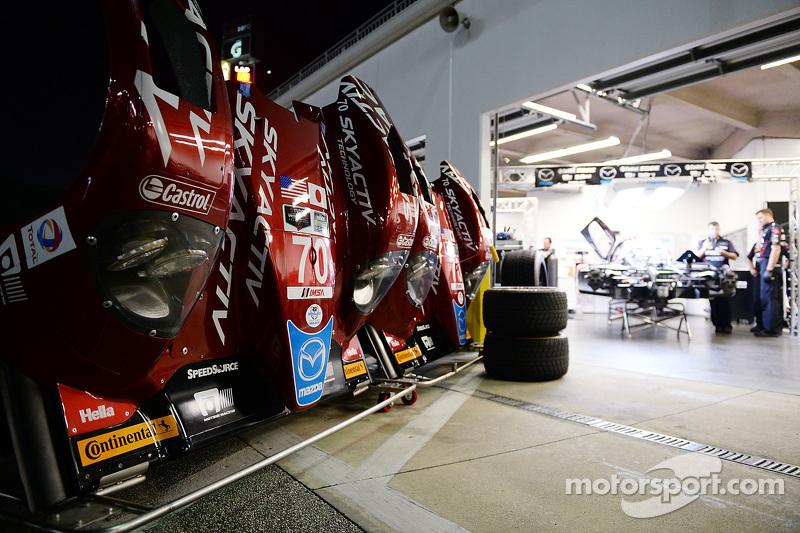Mazda garage area