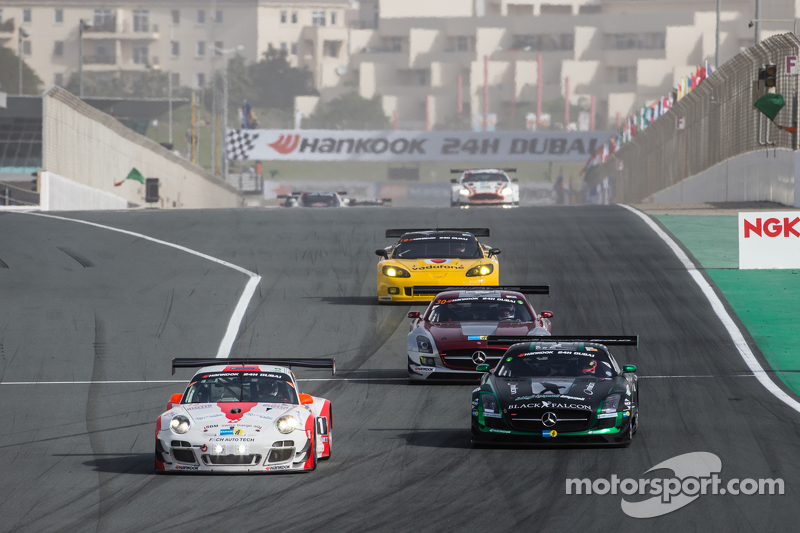 #12 Fach Auto Tech, Porsche 997 GT3 R: Otto Klohs, Martin Ragginger, Jens Richter, Sven Müller und #