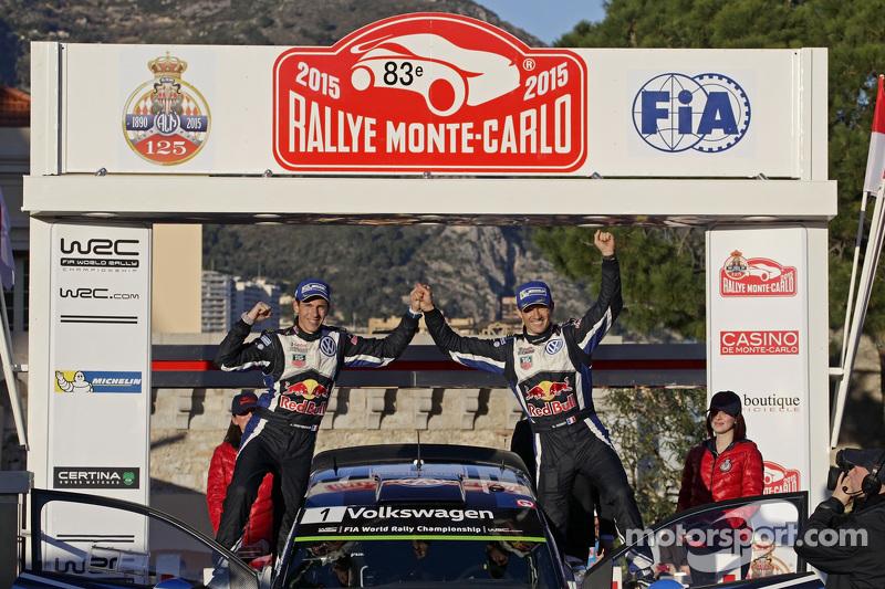Podium: 1. Sébastien Ogier und Julien Ingrassia, Volkswagen Motorsport