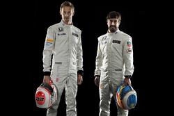Jenson Button e o Fernando Alonso, McLaren Honda