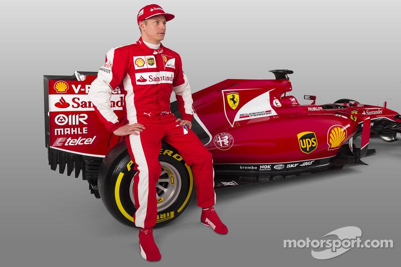 Kimi Räikkönen mit dem Ferrari SF15-T