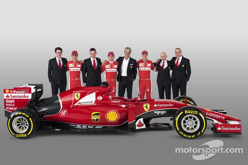 Презентация Ferrari SF15-T, январь. Пилоты и руководители команды