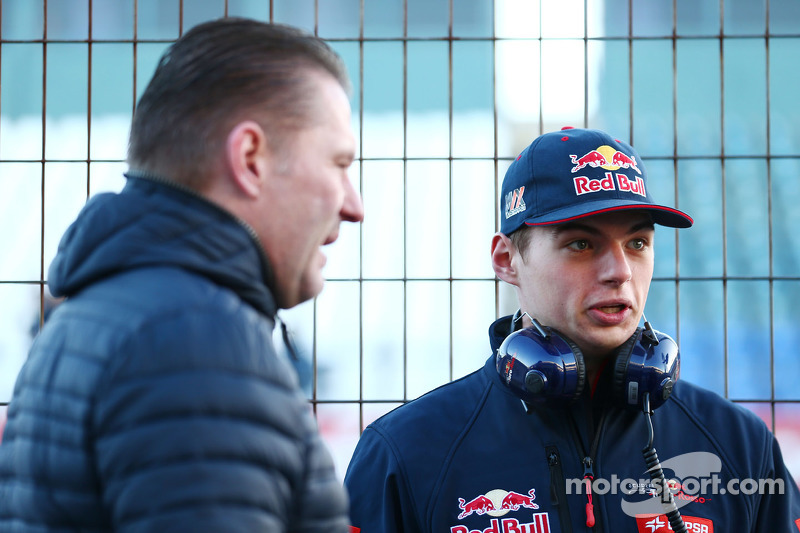 Max Verstappen, Scuderia Toro Rosso, with his father Jos Verstappen