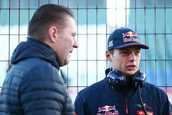 Max Verstappen, Scuderia Toro Rosso, met zijn vader Jos Verstappen