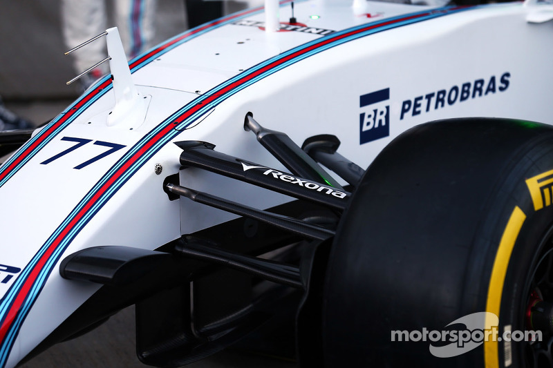 Williams FW37, Detail der Vorderradaufhängung