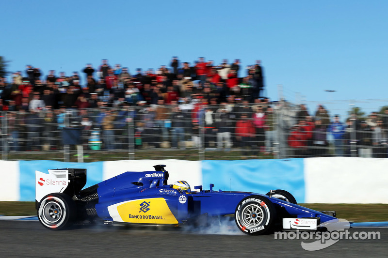 Marcus Ericsson, Sauber C34, mit Verbremser