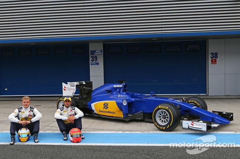 (Von links nach rechts): Marcus Ericsson, Sauber F1 Team, und Felipe Nasr, Sauber C34