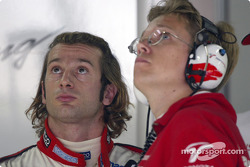 Jarno Trulli and Ossi Oikarinen