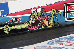 Artwork on Cory McClenathan's top fuel