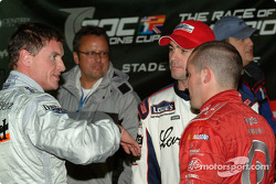 David Coulthard, Jimmie Johnson and Casey Mears