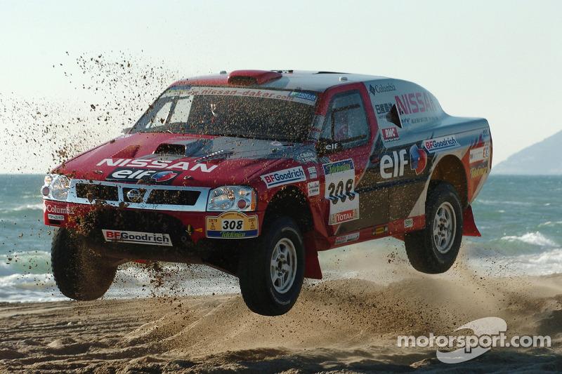 Colin McRae und Tina Thörner bei der Rallye Dakar