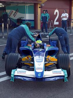 Felipe Massa tests the new Sauber Petronas C24