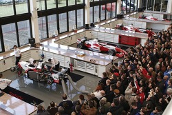 Visitors pack the F1 Workshop during the Open Doors event