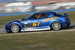 #67 SpeedSource Mazda RX-8: Rich Walker, Jose Armengol