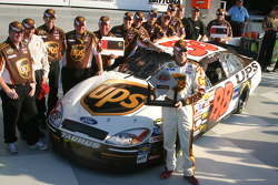 Pole winner Dale Jarrett celebrates with his team
