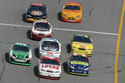 Mike Wallace battles with Greg Biffle and Carl Edwards