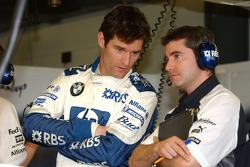 Mark Webber and race engineer Xevi Pojolar