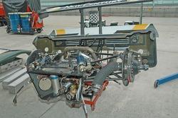 Rear end of the Target Chip Ganassi Lexus Riley