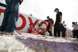Scott Dixon, Tomas Scheckter and Tomas Enge