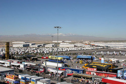 The spectacular scenery surrounding Las Vegas Motor Speedway