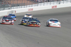Three wide: Kevin Harvick, Mike Bliss and Scott Riggs