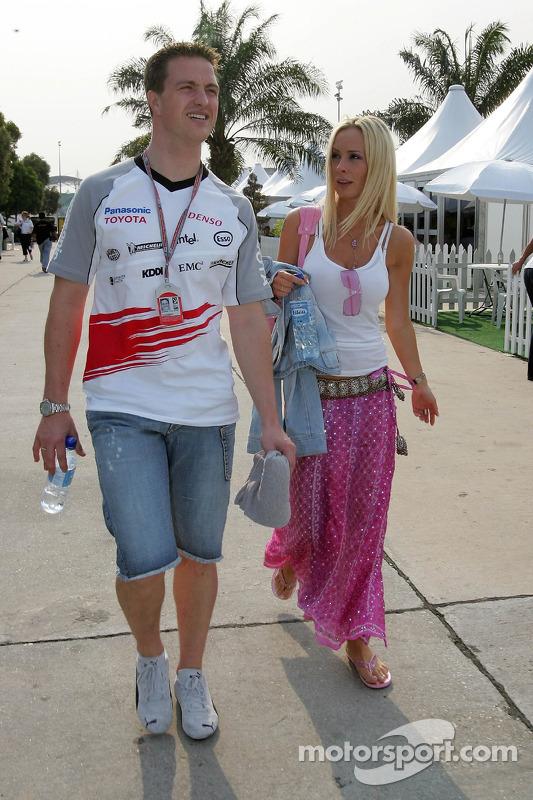 Ralf Schumacher con su encantadora esposa Cora