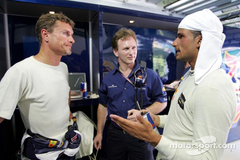 David Coulthard, Christian Horner y Vitantonio Liuzzi