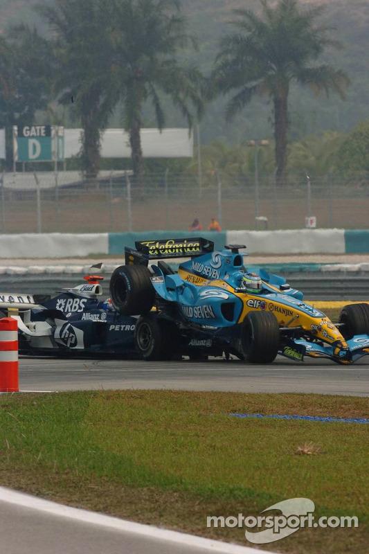 Accidente entre Mark Webber y Giancarlo Fisichella