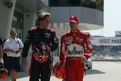 Christijan Albers and Michael Schumacher