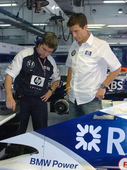 Mark Webber and race engineer Xevi Pojolar