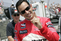Helio Castroneves, fastest of the day