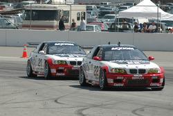 #22 Prototype Technology Group BMW M3: Chris Gleason, Ian James, #21 Prototype Technology Group BMW M3: Bill Auberlen, Joey Hand