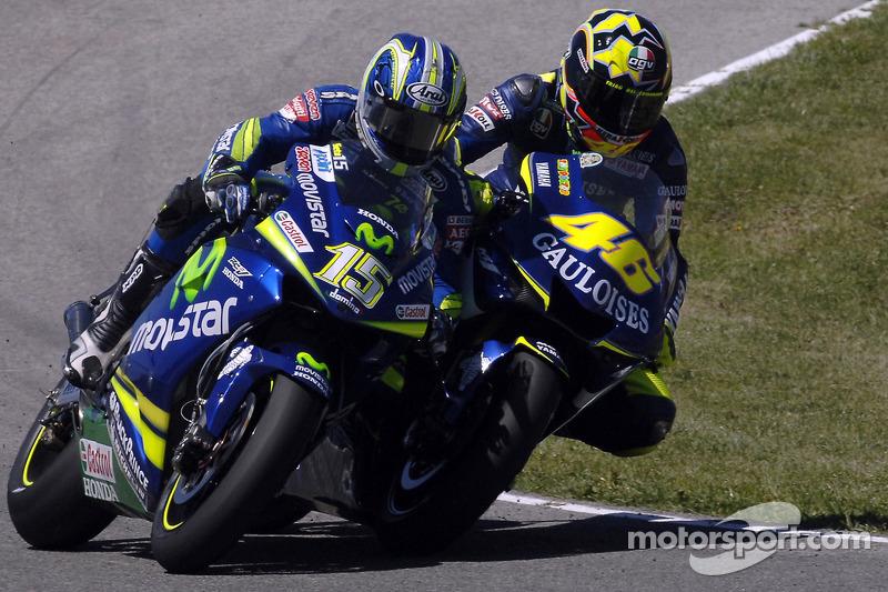 Jerez 2005: Sete Gibernau muss einstecken