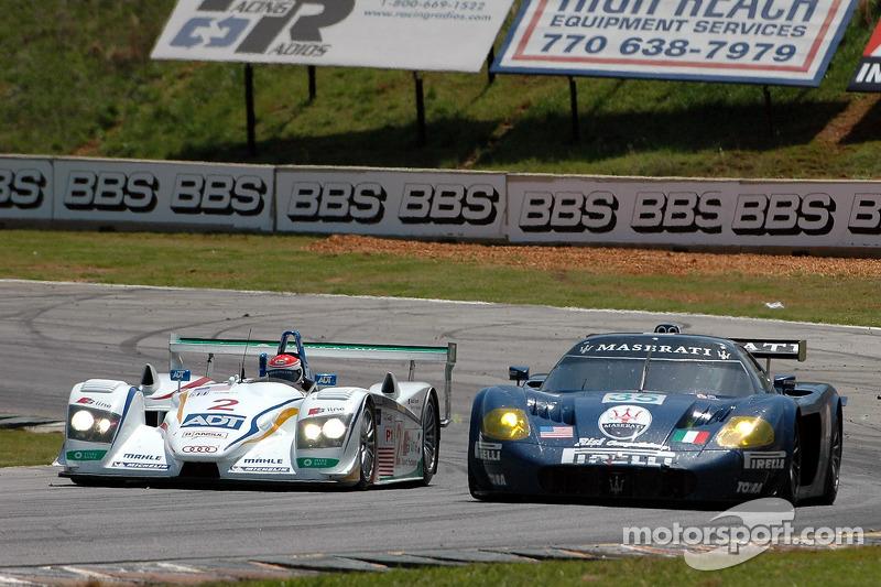 Champion Racing Audi R8 : Frank Biela, Emanuele Pirro; Maserati Corse Maserati MC12 : Andrea Bertolini, Fabrizio De Simone